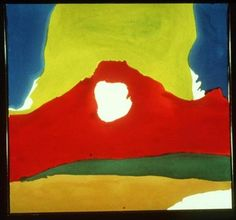 Helen Frankenthaler's ''Flow IV.'' She was known for creating abstract works using thin washes of translucent colored paint.