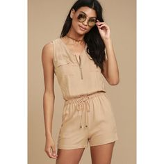 Product Name Casual Fashion Low Cut Drawstring Waist Romper Brand Eyekingdom Color Khaki/Army_green SKU Gender Women Style Elegant/Sexy/Fashion Type Romper Occasion Party/Vacation/Daily Life Material Cotton Blend Sleeve Sleeveless Decoration Solid Color Look Con Short, Playsuit Romper, Romper Outfit, Short Jumpsuit, Long Sleeve Romper, Dress Cuts, Rompers Women, Types Of Fashion Styles, Drawstring Waist
