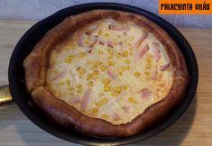 sajtos sonkás kukoricás dutch baby Quesadilla, Cheeseburger Chowder, Quiche, Pie, Desserts, Food, Baby, Torte, Tailgate Desserts