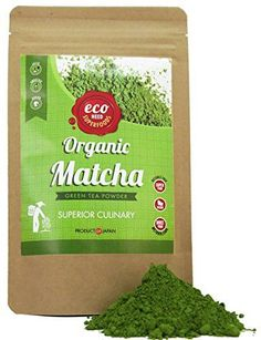 Matcha Green Tea Powder - Superior Culinary - USDA Organic From Japan -Natural Energy & Focus Booster Packed With Antioxidants. Matcha Tea For Mixing In Lattes, Smoothies & Baking. By eco heed 3.5oz ** See this great product.