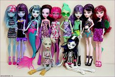Monster High CAM dolls...most of them. I know I have a few others not in this pic too. Discontinued now.