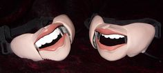 The Cable Controlled Professional Male Ventriloquist Masks side by side.