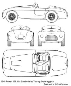 Ferrari 166 MM Barchetta (1948) | SMCars.Net - Car Blueprints Forum