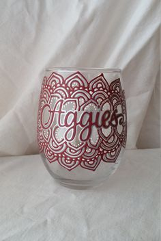 Hey, I found this really awesome Etsy listing at https://www.etsy.com/listing/264808622/texas-a-m-aggies-hand-painted-stemless