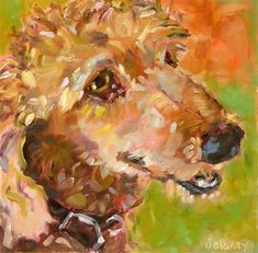 "Daily Paintworks - ""COCO"" - Original Fine Art for Sale - © Jean Delaney"