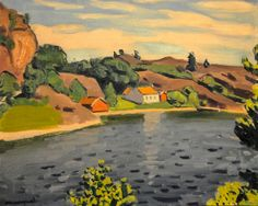 Albert Marquet - Entrance of the Canal at Hesnes, 1925 at Baltimore Museum of Art Baltimore MD