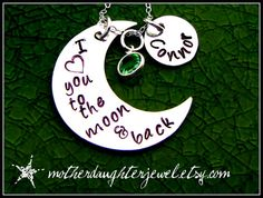 Personalized  I Love You To The Moon & Back by MotherDaughterJewel, $50.00