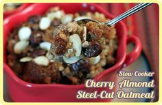 Slow Cooker, Cherry Almond Steel-Cut Oatmeal