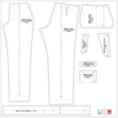 men's trousers - custom fitted pattern