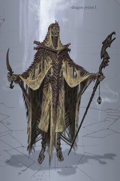 Dragon Priest concept art from The Elder Scrolls V: Skyrim by Adam Adamowicz The Elder Scrolls, Elder Scrolls Games, Elder Scrolls V Skyrim, Skyrim Concept Art, Game Concept Art, Character Concept, Character Art, Skyrim Dragon Priest, Vampires
