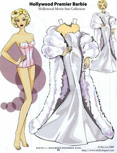 ARTIST Siri Lin HOLLYWOOD MOVIE STAR COLLECTION 2009 Paper Doll