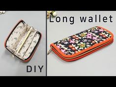 DIY Zipped long wallet / long wallet tutorial / Long wallet with . Informations About DIY Zipped l Diy Wallet Duct Tape, Diy Wallet Fabric, Diy Wallet Pattern, Sew Wallet, Wallet Tutorial, Handbag Patterns, Cloth Bags, Long Wallet, Leather Wallet