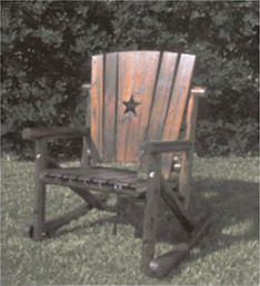 Rocking Chair w/ Texas Lone Star-Texas Home Decor