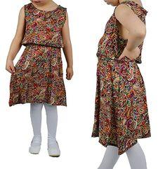Mädchen Sommerkleid bunt Kleid knielang ärmellos Kleider Girl Rock Gr.98-152cm,  Farbe 7e898672e4