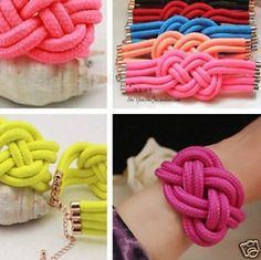 Macrame jewelry in all colors