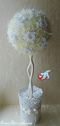 Discover thousands of images about Topiary DIY Pretty Flowers, Silk Flowers, Fabric Flowers, Paper Flowers, Flower Centerpieces, Flower Vases, Flower Decorations, Wedding Decorations, Foam Crafts