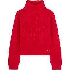 558be97113c Versace Split-sleeve ribbed wool turtleneck sweater (8.286.550 IDR) ❤ liked