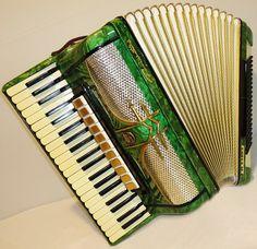 Very Beautiful Rare German Piano ACCORDION FIROTTI Elegance 120 bass. Perfect sound.