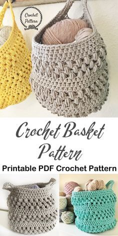 Manage - Make a basket Basket storage crochet sample - croche.Beautiful Manage - Make a basket Basket storage crochet sample - croche. Crochet Simple, Crochet Diy, Crochet Home, Crochet Gifts, Crochet Hammock, Crochet Storage, Crochet Basket Pattern, Knit Basket, Crochet Patterns