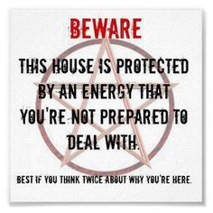 I think everyone should have one of these pinned to their front door.  It would almost certainly put an end to unexpected visits from door to door salesmen.  :o)