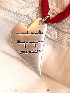Anhänger Herzschlag und Geburtsdatum