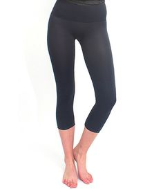 Look at this Black Tummy Control High-Waist Leggings - Women on #zulily today!