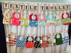 super cute ideas for burp cloths + bibs at craft fairs