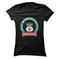 This girl loves her Miniature Schnauzer - #workout shirt #tshirt no sew. I WANT THIS => https://www.sunfrog.com/Pets/This-girl-loves-her-Miniature-Schnauzer-48317708-Ladies.html?68278
