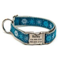 Rita Bean Engraved Buckle Personalized Dog Collar - Snowtopia