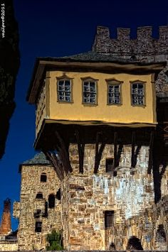 handa: Reflections, a photo from Agion Oros, Macedonia She Sheds, Unusual Homes, Thats The Way, Macedonia, Old Houses, Tiny Houses, House Colors, Places To See, Travel Photos