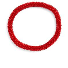 Aid Through Trade Roll-On Beaded Stretch Bracelet (430 THB) ❤ liked on Polyvore featuring jewelry, bracelets, red, stretchy bracelet, red bead bracelet, stackable bangles, bracelet bangle and beading jewelry
