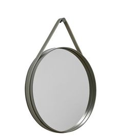Strap Wall mirror - Ø 50 cm Army by Hay - Design furniture and decoration with Made in Design