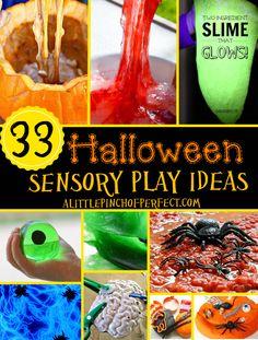 33 Amazing Halloween Sensory Play Ideas-this list is PERFECT!