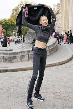 Soo Joo Park at Shiatzy Chen SS 2015 Paris Snapped by Benjamin Kwan Paris Fashion Week