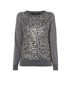 Jaeger Sequin and Lurex Sweater
