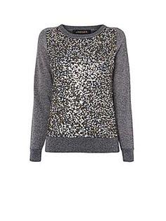 Jaeger Sequin and Lurex Sweater