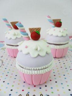 caixinhas de biscuit cup cakes - Pesquisa Google
