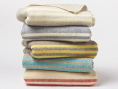 Striped Natural Wool Blanket | Coyuchi