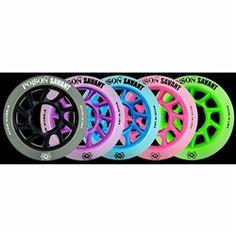 Atom Poison Savant Wheels with Bionic Bearings 8mm Full Set of 8 Atom Skates