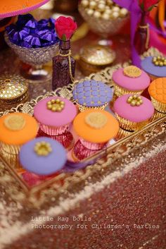 Little Big Company | The Blog: Marissa's birthday, An Arabian Nights themed party with a beautiful Moroccan feel by Sweet Bambini Event Styling gorgeous moroccan themed cupcakes