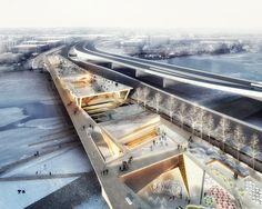Galeria de OMA + OLIN vencem concurso para projetar um parque elevado em Washington D.C. - 4