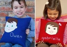 Personalized Pillows by Olliegraphic — Family Find Personalized Pillows, Christmas Delivery, Niece And Nephew, Gifts For Girls, Baby Love, Kids Bedroom, Baby Kids, Fun Ideas, Craft Ideas