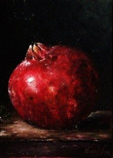 I'll admit it; I love paintings with just one subject, like this Pomegranate Original Oil Painting by Nina R.Aide by RomaGalleries, $40.00