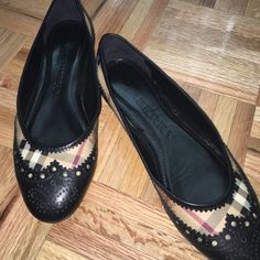 Burberry flats Like new Burberry flats   Super cute with lace looking detail Burberry Shoes Flats & Loafers
