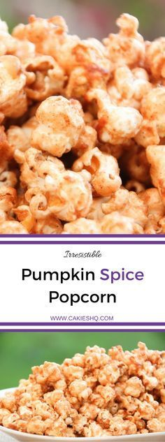 Pumpkin Spice Popcorn is the perfect snack for the fall and winter. This recipe is super delicious and easy to make. An irresistible pumpkin spice snack.