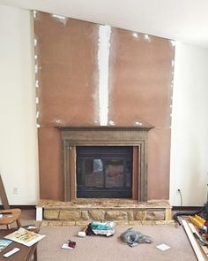 Before & After: A Simple (& Temporary!) Modern Mantel Update to a ...