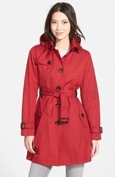 MICHAEL Michael Kors Single Breasted Raincoat (Regular & Petite)