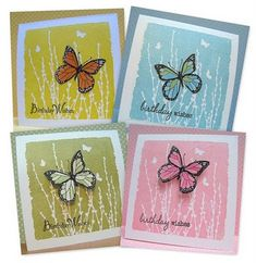 Hero Arts Butterfly field stamp