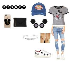 """disney bound"" by britt-sanchez ❤ liked on Polyvore featuring Disney, MOA Master of Arts, Lizzy Disney, rag & bone/JEAN, Linda Farrow, Topshop and Casetify"