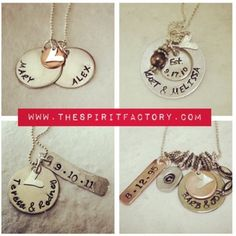 Hand stamped ! Great gifts Wedding gifts